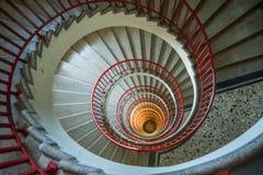 Escaleras del caracol Fotografía de archivo