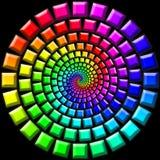 Escaleras del caramelo del arco iris Fotografía de archivo libre de regalías