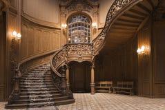 Escaleras del casino fotografía de archivo