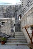 Escaleras del castillo Imagen de archivo libre de regalías