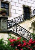 Escaleras del castillo Fotos de archivo