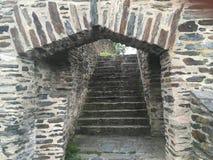 Escaleras del castillo Imagen de archivo