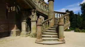 Escaleras del castillo de Belfast Foto de archivo