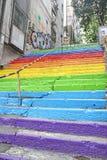 Escaleras del color Imagenes de archivo