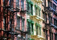Escaleras del color Fotos de archivo