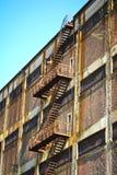 Escaleras del escape Imagen de archivo libre de regalías