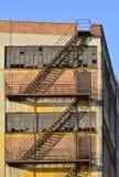 Escaleras del escape Fotografía de archivo