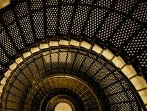 Escaleras del faro Imágenes de archivo libres de regalías