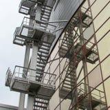 Escaleras del fuego imagenes de archivo