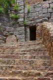 Escaleras del fuerte de Golkonda Fotografía de archivo libre de regalías