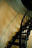 Escaleras del hierro del faro de Meares del cabo Foto de archivo libre de regalías