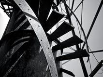 Escaleras del metal Fotos de archivo libres de regalías
