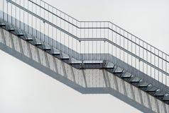 Escaleras del metal Foto de archivo
