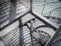 Escaleras del metal Fotografía de archivo libre de regalías