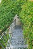 Escaleras del metal Imágenes de archivo libres de regalías