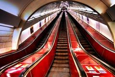 Escaleras del metro Fotografía de archivo