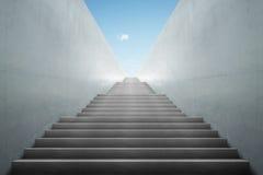Escaleras del metro hacia arriba imagen de archivo