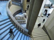 Escaleras del museo arqueológico nacional en Nápoles Fotografía de archivo