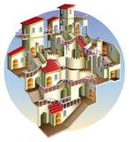 Escaleras del od de la ciudad Libre Illustration