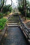 Escaleras del parque Imagenes de archivo