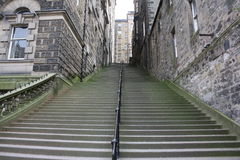 Escaleras del pasillo Fotografía de archivo libre de regalías