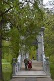 Escaleras del puente de Tsarskoe Selo Pushkin imagenes de archivo