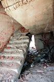 Escaleras del terremoto Imágenes de archivo libres de regalías