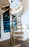 Escaleras del yate Fotografía de archivo