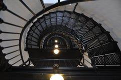 Escaleras dentro de un faro Fotos de archivo libres de regalías