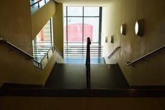 Escaleras dentro en la opinión de la casa desde arriba Imagen de archivo