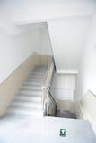 Escaleras en blanco Fotografía de archivo