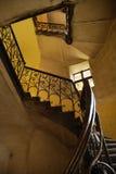 Escaleras en casa polaca vieja Imágenes de archivo libres de regalías