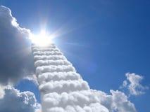 Escaleras en cielo Fotografía de archivo libre de regalías