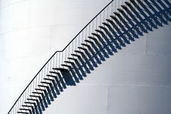 Escaleras en el buque de petróleo Foto de archivo libre de regalías