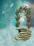 Escaleras en el cielo stock de ilustración