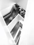 Escaleras en el cristal, ROM Fotografía de archivo