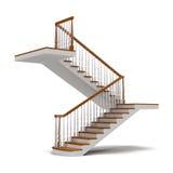 Escaleras en el fondo blanco Foto de archivo