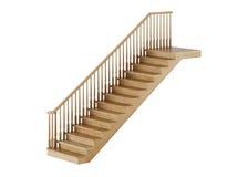 Escaleras en el fondo blanco Fotografía de archivo
