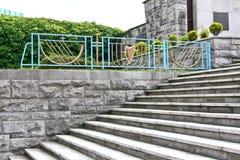 Escaleras en el jardín de la conmemoración, Dublín, Irlanda Imágenes de archivo libres de regalías