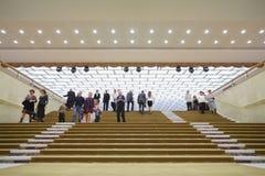 Escaleras en el palacio del Kremlin del estado Foto de archivo libre de regalías