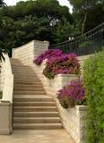 Escaleras en el parque de Haifa Fotos de archivo libres de regalías