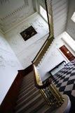 Escaleras en el sitio principal en la casa majestuosa de Russborough, Irlanda Imagen de archivo