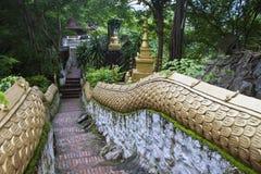 Escaleras en el soporte Phousi Foto de archivo libre de regalías