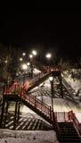 Escaleras en invierno Imagen de archivo