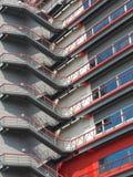 Escaleras en la cara del edificio Fotos de archivo