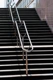Escaleras en la entrada del metro Fotos de archivo libres de regalías
