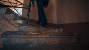 Escaleras en la torre del reloj almacen de metraje de vídeo