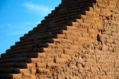 Escaleras en las ruinas del pueblo de los PECO Imagen de archivo libre de regalías