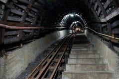 Escaleras en mina de carbón Fotografía de archivo libre de regalías