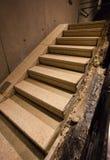 Escaleras en nuevamente abierto 9/11 monumento en el punto cero, NYC Foto de archivo